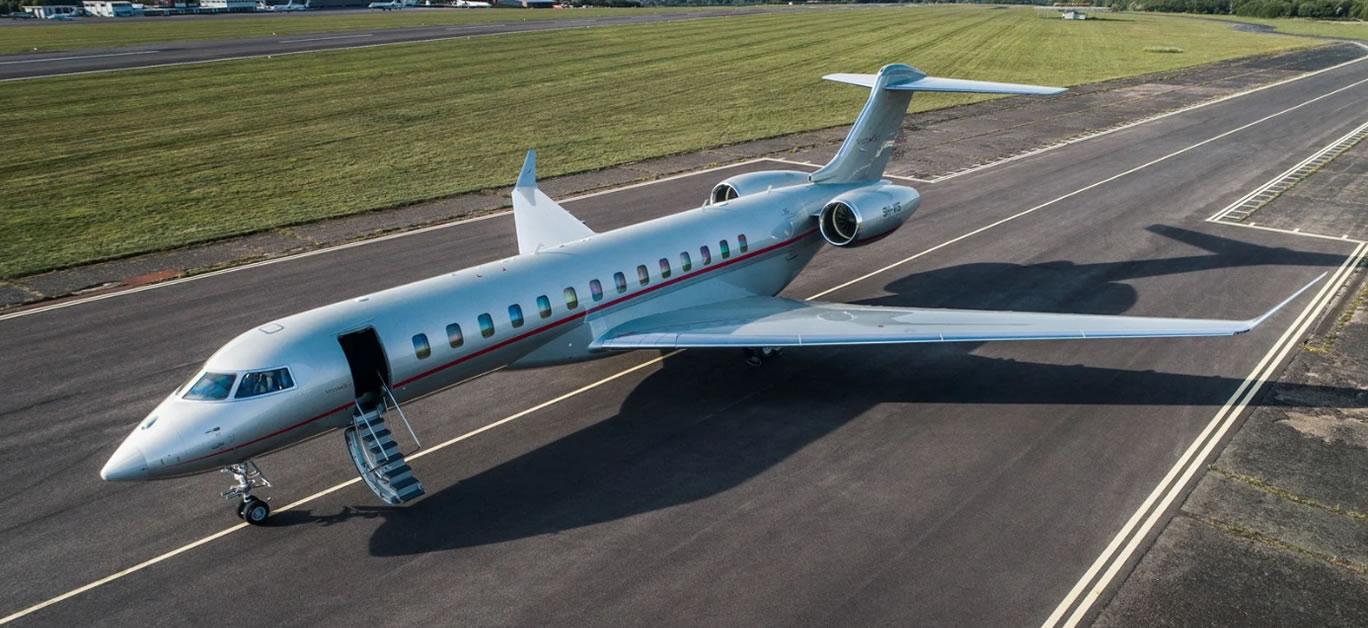 Vistajet's record breaking Global 7500 aircraft