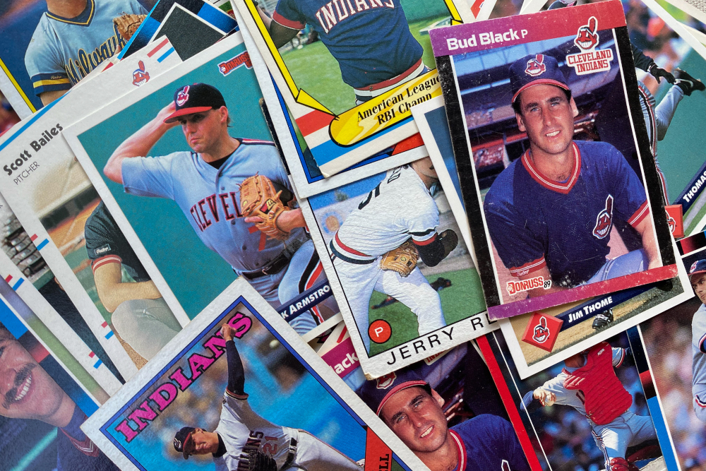 collection of 1980s Cleveland Indians Baseball cards