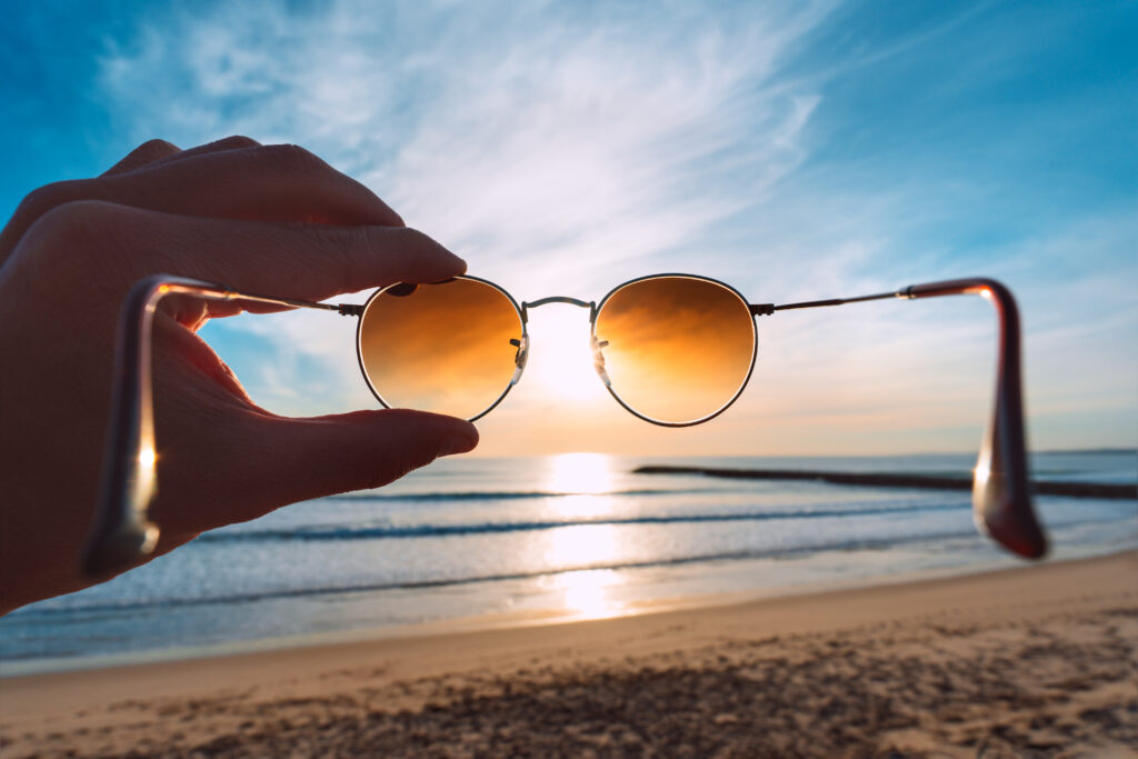 Sunglasses and a beach