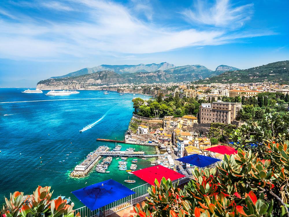 Landscape with Sorrento town, amalfi coast, Italy