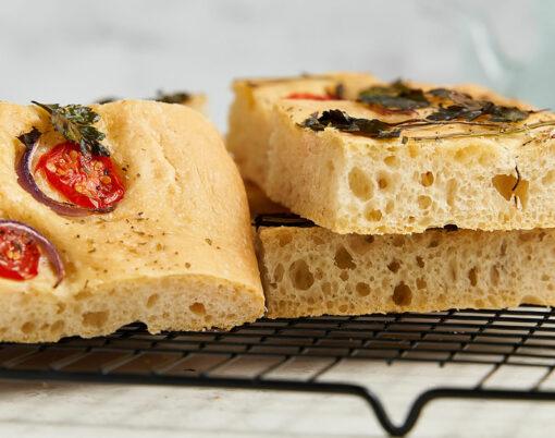 Cherry tomato and rosemary focaccia recipe