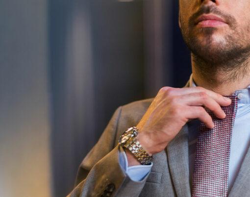 man in designer suit