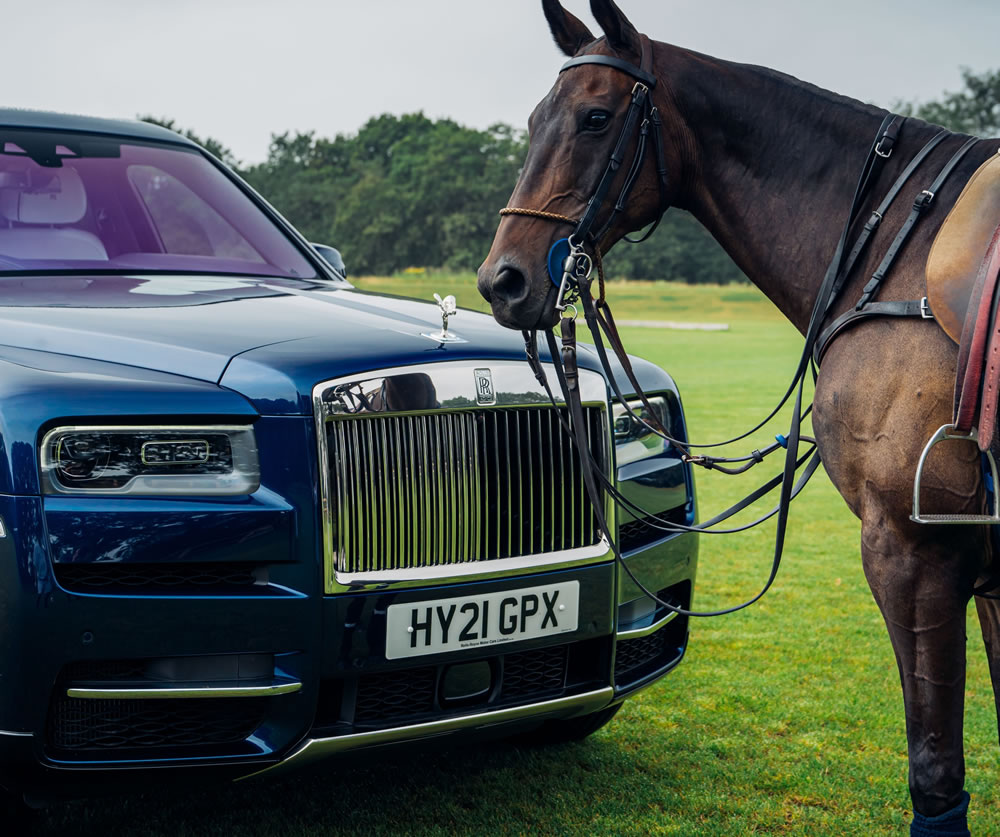 Rolls-Royce Cullinan with horse