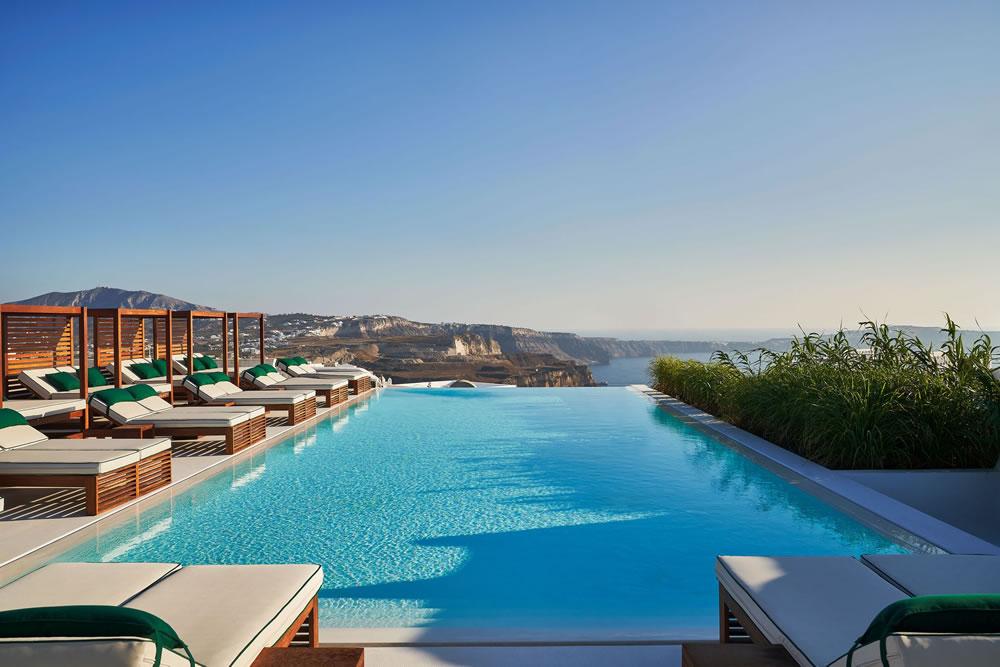 Swimming pool at Katikies Garden, Santorini