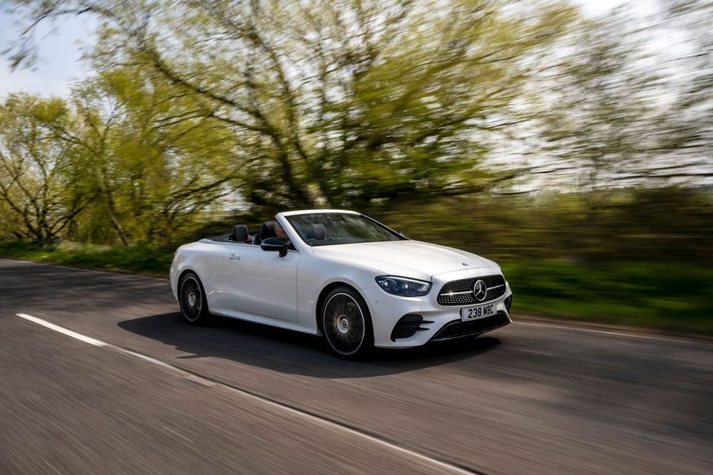 Mercedes-Benz E-Class Cabriolet on the road