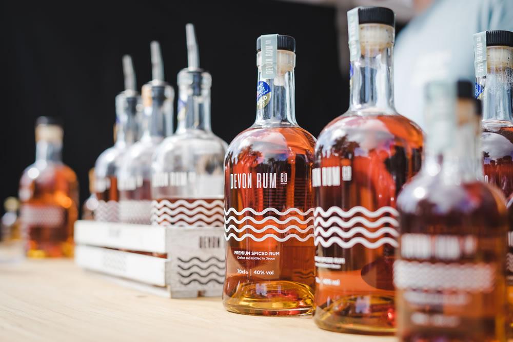 Devon Rum Company bottles at show