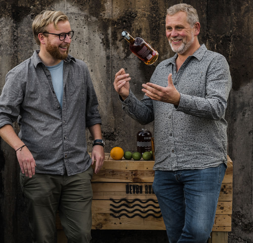 Dave Seear (left) is the founder of Devon Rum Company