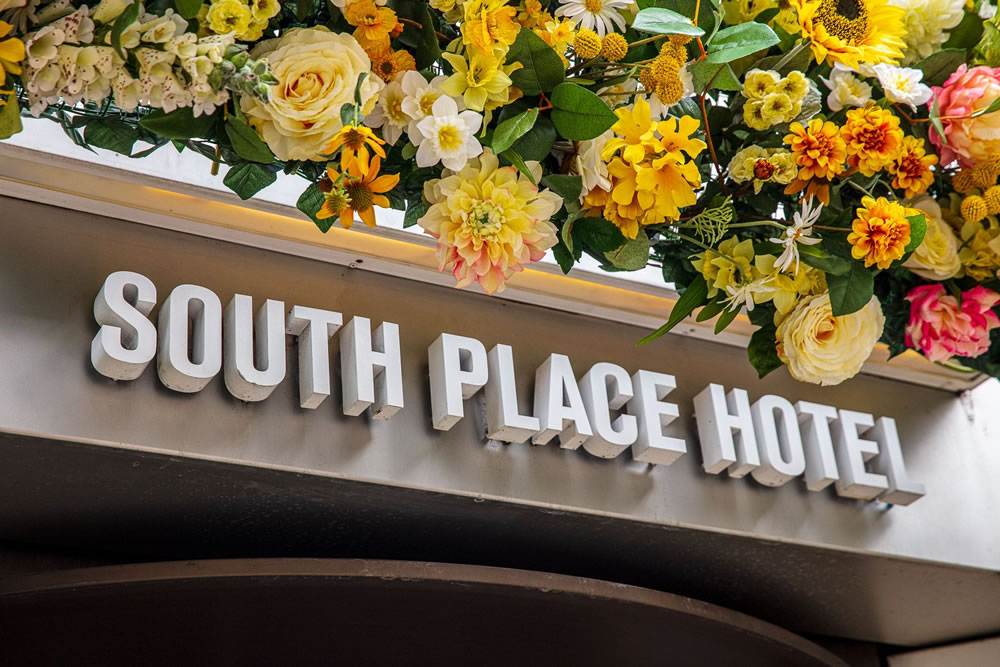 South Place Hotel front sign