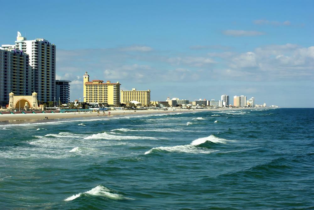 Typical winter in Daytona Beach Florida USA
