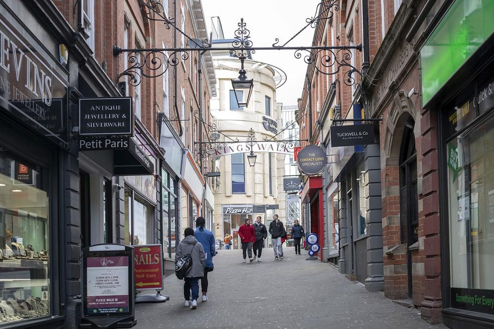 Nottingham shopping street
