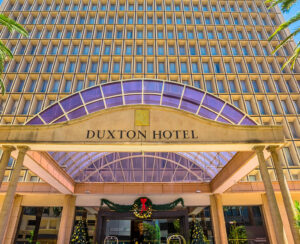 Main facade of Duxton Hotel, a luxury 5-star hotel