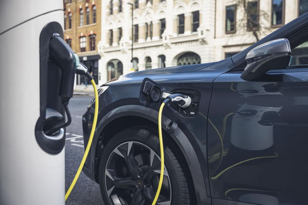 CUPRA Formentor charging in street